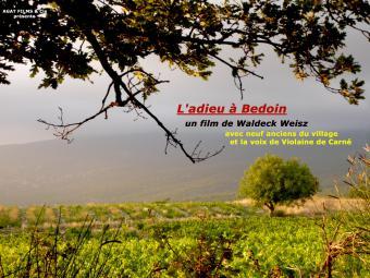 L'adieu à Bédoin - affiche du film